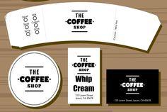 Free Pretend Play Coffee Shop Printables