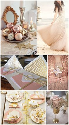 blush and gold wedding ideas. Um, why do I love this color combo so much? Almost perfection