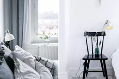 Decorating Tips From Airbnb #refinery29  http://www.refinery29.uk/airbnb-best-listings-decor-ideas#slide-1  Try a chair as a side tableInstead of a regular bedside table, try using a chair for monochrome, scandi appeal. ...