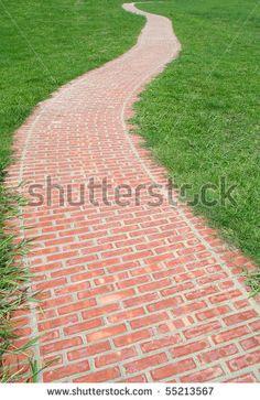 Brick walkway like this...