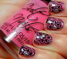 I love this pattern! Very pretty! #NailArt Cute!