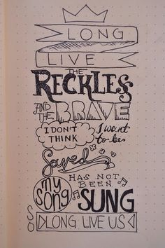 Long live the reckless and the brave - ATL