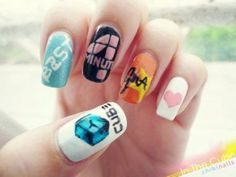 I really want to try Kpop nail art. It looks very quirky and cute.