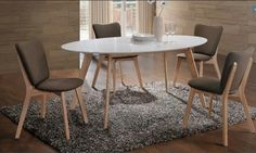 Modern dining room in Scandinavian style. Polish Signal Modern Furniture Store in London, United Kingdom Table Console Extensible, Dining Room Furniture Sets, Oval Table, Scandinavian Furniture, Scandinavian Style, Modern Furniture, Online Furniture Stores, Dining Table In Kitchen, Extendable Dining Table