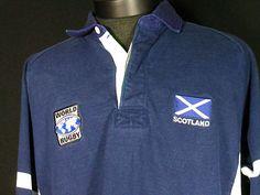 Vintage Barbarian Rugby Wear Rugby Polo Shirt XXL Scotland World Rugby Blue #Shopping #Style #Clothing #eBay @eBay! http://r.ebay.com/fuhnBr