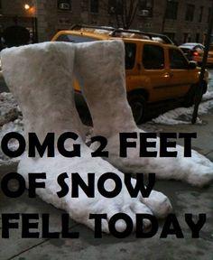 2 feet of Snow