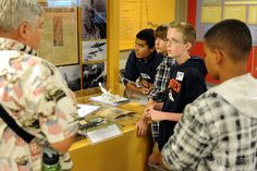 Skyview Middle School students learn about world history May 3 at the National Museum of World War II Aviation in Colorado Springs. The Falcon School District 49 seventh graders are the first middle school students to participate in a new educational program by the Colorado Consortium for Earth and Space Science. After opening in October, the founders of the museum partnered with the CCESS to boost youth interest in science, technology, engineering and mathematics, using a hook into history.