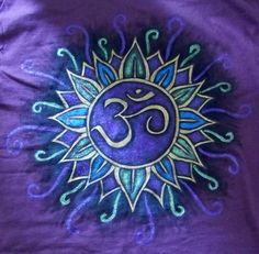 Om Painted Tshirt by TwoBlueRavens on Etsy, $25.00
