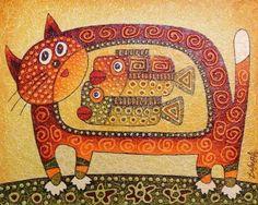 Картины (живопись) : Рыжий  кот