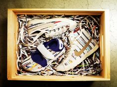 Nike Turns Shredded Magazines Into Colorful Sneakers   Ecouterre