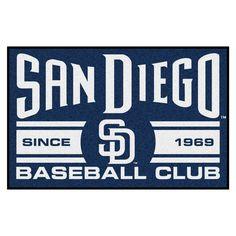 "MLB San Diego Padres Baseball Club Starter Rug 19""x30"""