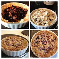 Bluberry/shopped milkchocolat pie!
