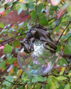 Hanging dragon christmas bauble