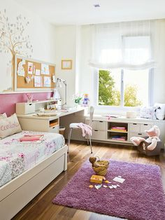Kids room. Love the idea of the desk by the window...   Детали: детские комнаты 1