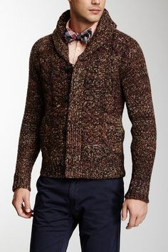 Chunky Cable Knit Wool Blend Cardigan by Scotch & Soda on @HauteLook