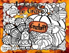 * FREE * French Thanksgiving colouring page - L'Action de Grce! A little something to say 'Merci'!