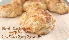 Red Lobster Cheddar Bay Biscuits Copycat Recipe from SixSistersStuff.com. Tastes awesome with soup! #bread