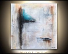 Abstract painting 36x36 original square large by RawArtGallery, $349.00
