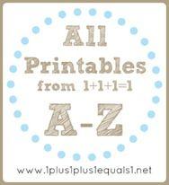Early Childhood Theme Printables F-J