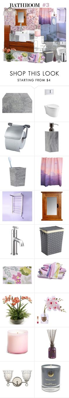 """""""Geen titel #317"""" by miriam-witte ❤ liked on Polyvore featuring interior, interiors, interior design, home, home decor, interior decorating, WALL, Kohler, Pigeon & Poodle and Elise Flashman"""