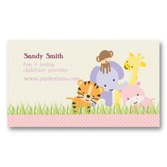 Fun Childcare Business Cards | Childcare