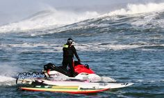 K38 Founder Shawn Alladio teaches and certififes boating safety courses for rescue water craft @ Mavericks Beach in Princeton-by-the-Sea, CA