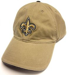 NFL Team Apparel New Orleans Saints Tan Khaki Slouch Relaxed Fit Hat Cap  Adult Adjustable 3cce2f1ad