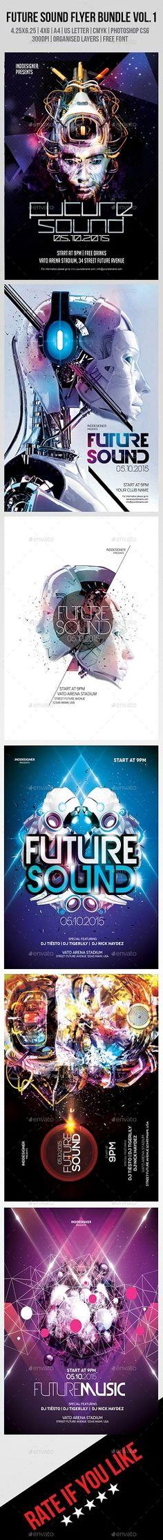 Graphıcrıver Future Sound Flyer Bundle Vol.1 8889128