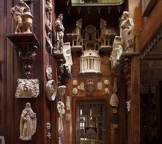 Monk's Parlour door with models above - Sir John Soane Museum