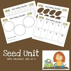 Printable Seed Unit for learning with seeds inspired by The Tiny Seed by Eric Carle. Nickles Nickles Valk Chuah Educators' Spin On It April Preschool, Preschool Garden, Kindergarten Science, Preschool Crafts, Preschool Ideas, Tiny Seed Activities, Spring Activities, Science Activities, Toddler Activities