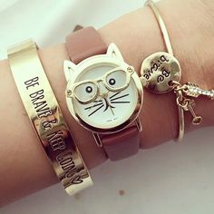 Be Brave Keep Going Bileklik, Diy Abschnitt, Fancy Watches, Trendy Watches, Cute Watches, Cute Jewelry, Jewelry Accessories, Brave, Beautiful Watches, Fashion Watches, Bracelet Watch