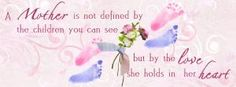 Raising Miscarriage Stillbirth and Infant Loss Awareness, Bereaved Mother's Day is May 5th. (Facebook Timeline cover)
