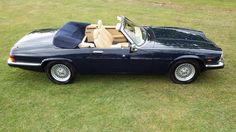 A 1988 V12 convertible. KWE re-sprayed it in Jaguar Westminster Blue, overhauled the engine, and fitted new suspension, brakes, steering, and interior.