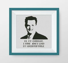 BUY 2, GET 1 FREE! Chandler Muriel Bing. Friends cross stitch pattern, pdf counted cross stitch pattern, Friends tv show, P199