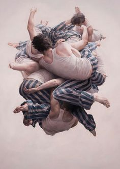 """Cluster"" - Jeremy Geddes {contemporary art male barefoot man #surreal photorealism painting} ♥ Innovative !!"