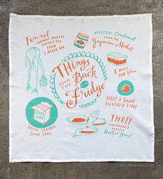 Back of the Fridge Dish Towel by Emily McDowell