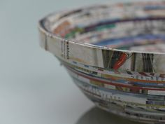 Schale aus Katalog / Bowl made of catalogue / Upcycling