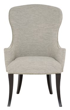 Arm Chair | Bernhardt Acrylic Dining Chairs, Leather Dining Room Chairs, Solid Wood Dining Chairs, Dining Arm Chair, Side Chair, Large Furniture, Dining Furniture, House Furniture, Handmade Furniture
