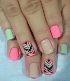Pin by Carol Veliz on Jesu ideas ❤️ in 2019 Funky Nails, Love Nails, Pretty Nails, My Nails, Pedicure Nails, Manicure, Hello Nails, Indian Nails, Essie Nail Polish Colors