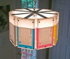 Lámpara con cartuchos de impresora