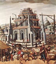 Unknown painter, The Tower of Babel, c. 1590, oil on wood, Germanisches Nationalmuseum, Nuremberg.