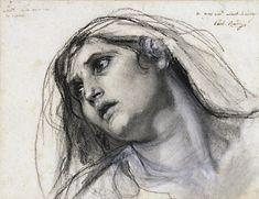 Old Master Drawings - WetCanvas...Baudry, Paul - Study for Virgin.