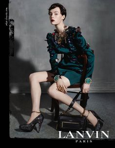 visual optimism; fashion editorials, shows, campaigns & more!: edie campbell by steven meisel for lanvin f/w 13.14