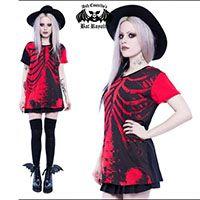 Bad to the Bone Bat Royalty Tunic Tee / Dress by Iron Fist & Ash Costello