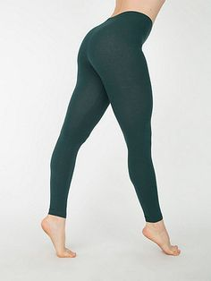 Cotton Spandex Jersey Legging in Forest - American Apparel