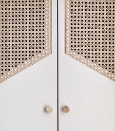 Such a sucker for rattan. Custom wardrobe doors in Hôtel Doisy, a boutique hotel in Paris by Cane Furniture, Furniture Design, French Furniture, Rustic Furniture, Luxury Furniture, Office Furniture, Vintage Furniture, Architecture Details, Interior Architecture