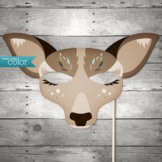 DIY druckbare Lady Deer Maske  Karneval von ShadesOfEveryColor