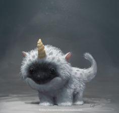 Fuzzy Baby Unicorn by imaginism