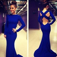 lovely deep blue color dress