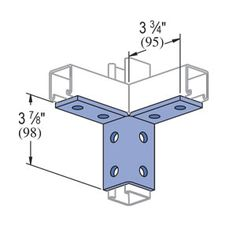 P2225 Unistrut 8-Hole Wing Shape Fitting. Eberl Iron Works, Inc. is a distributor of the Unistrut Metal Framing System.